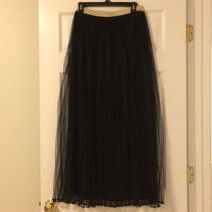 Black Tulle Maxi Skirt